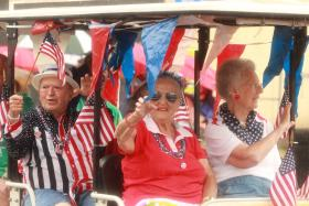 Participants in Northside's 2013 Fourth of July parade.