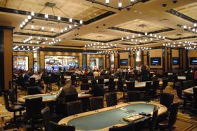 The Poker Room at Cincinnati's Horseshoe Casino.