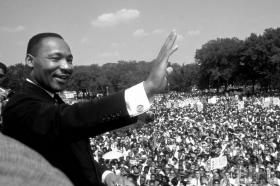 Martin Luther King at the Freedom March, August 28, 1963