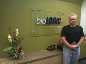 Jason Barkeloo of Bacterial Robotics doesn't need a large office space. When he needs lab space, he goes to bioLOGIC, a biotech incubator in Northern Kentucky.