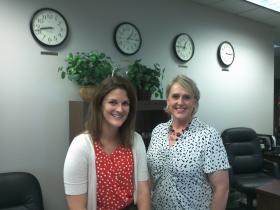 Former U.S. Commercial Service International Trade Specialist Kara Sweeney (L) with Commercial Service Director Marcia Brandstadt.