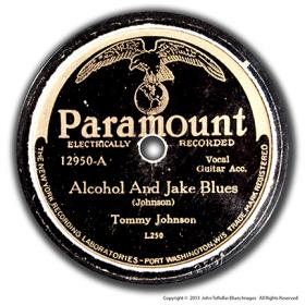 Rare 78 rpm recorded by Tommy Johnson in 1930 and purchased by John Tefteller in September, 2013 on Ebay for $37,100.  Photo is from the collection of John Tefteller and Blues Images www.bluesimages.com.  Used with permission.