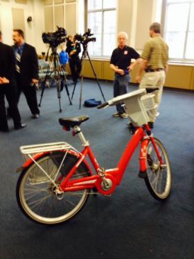 A Cincy Bike Share rental bike