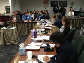 Teachers before the State Board of Ed alleging misconduct, racism, and sexism at Dayton charter school.