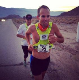 Fourth time's a charm: In his fourth time running in the grueling Badwater race, Lewis came in first.