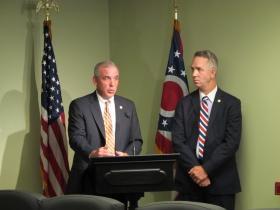 Rep. Matt Huffman (R-Lima) on left and Rep. Andy Thompson (R-Marietta)  on right