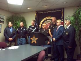 Law enforcement from Cincinnati, Hamilton County and Indiana discuss the latest bust in which 14 people were arrested for trafficking heroin and cocaine.