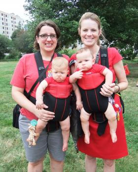 Nicole Hoffman and Amy Maier, with twins Daphne and Daniel, plan to wed this weekend in Chicago.