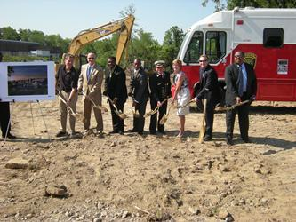 Cincinnati officials prepare to break ground for new Westwood fire station.