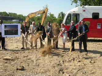 Cincinnati officials break ground for new Westwood fire station.