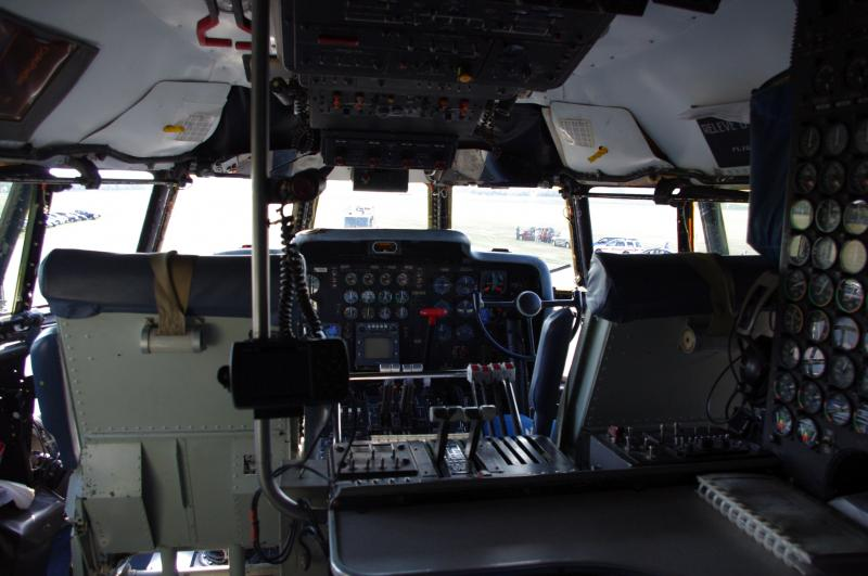 View of the Super Guppy cockpit.