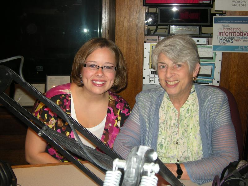 Whitney Woodburn and Dr, Judith Feinberg in the WVXU studios. Dr. Kimberly Lentz joined us by phone