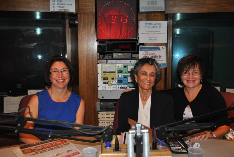 Carolyn Washbburn, Mary Carmen Cupito and Elissa Yancey in the WVXU studios