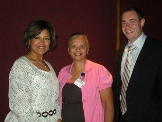 Stephanie Byrd of United Way of Greater Cincinnati's Success by 6, Deborah Bradshaw of Cincinnati Public Schools and Greg Landsman Strive Together