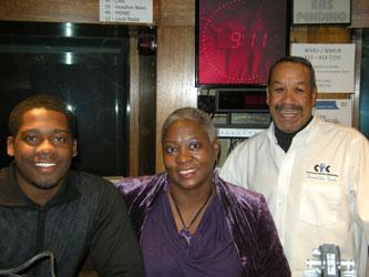 Darryl Long, Simone Bess and Donald Swain in the WVXU Studios