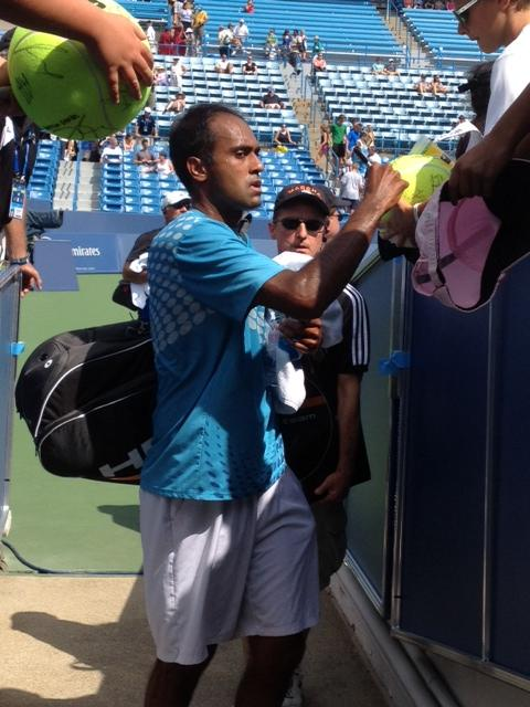 Rajeev Ram Tweets from Tunnel