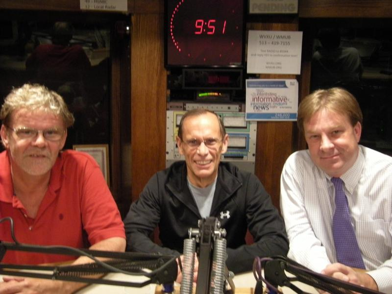 Howard Wilkinson, Dr. Gene Beaupre, and Dr. Eric Rademacher in the WVXU studio.