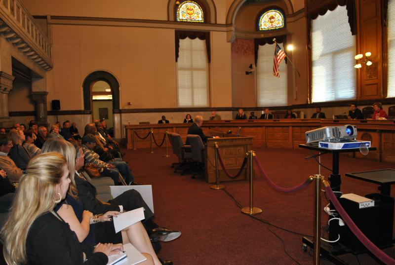 The Budget and Finance Committee heard from dozens of people for and against the streetcar project.