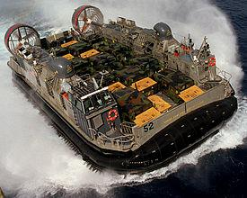 One of the amphibious hovercrafts.