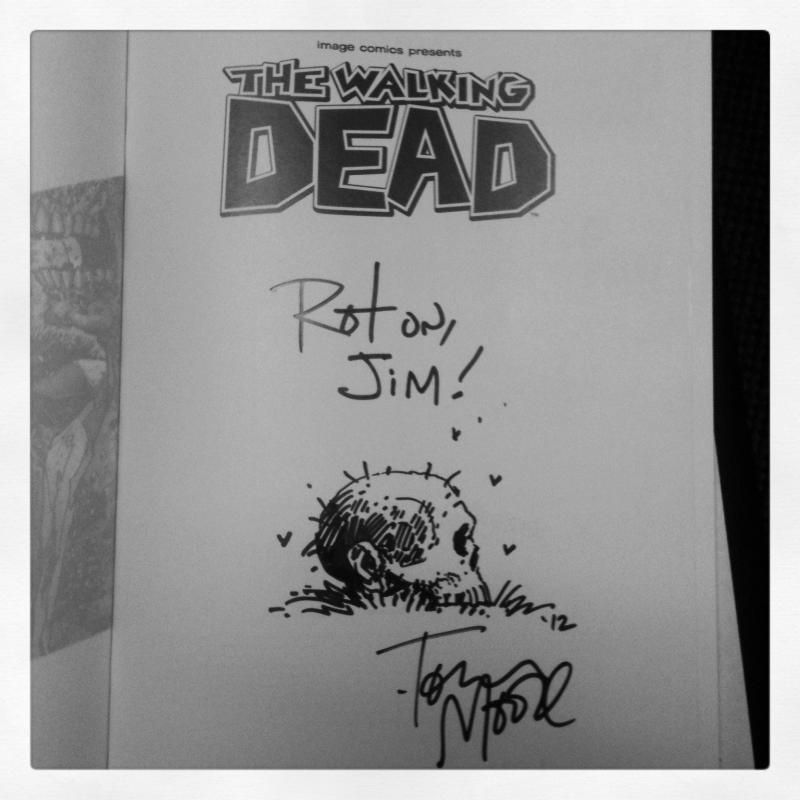 Tony's awesome autograph