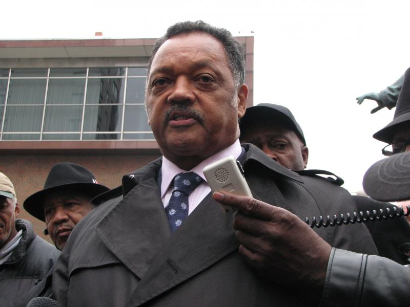 Jesse Jackson during a visit to Cincinnati last year.