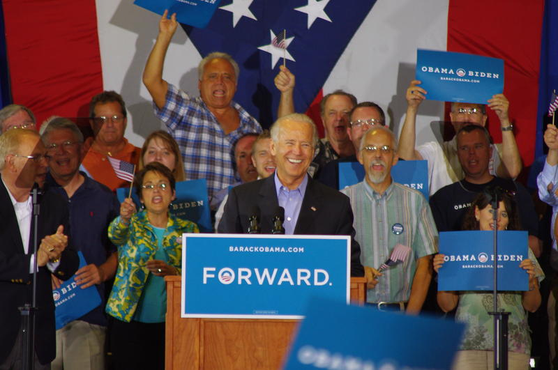 Vice President Joe Biden in Milford in 2012.