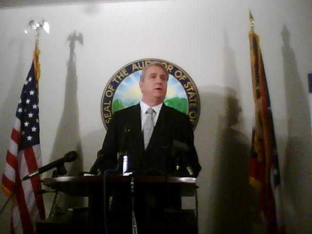 Auditor Dave Yost at Thursday's news conference