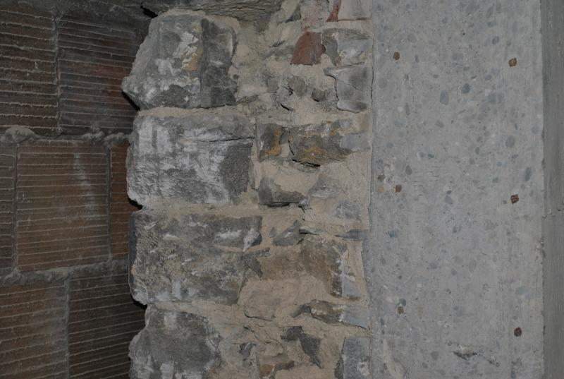 Walls in the 1887 building are as thick as 4.5 feet in some places.