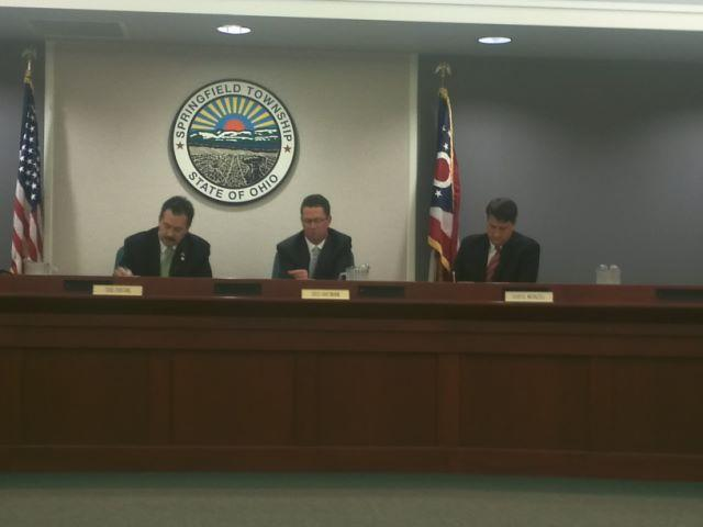 Springfield Township hosted Hamilton County Commissioners for the first of three public budget hearings.