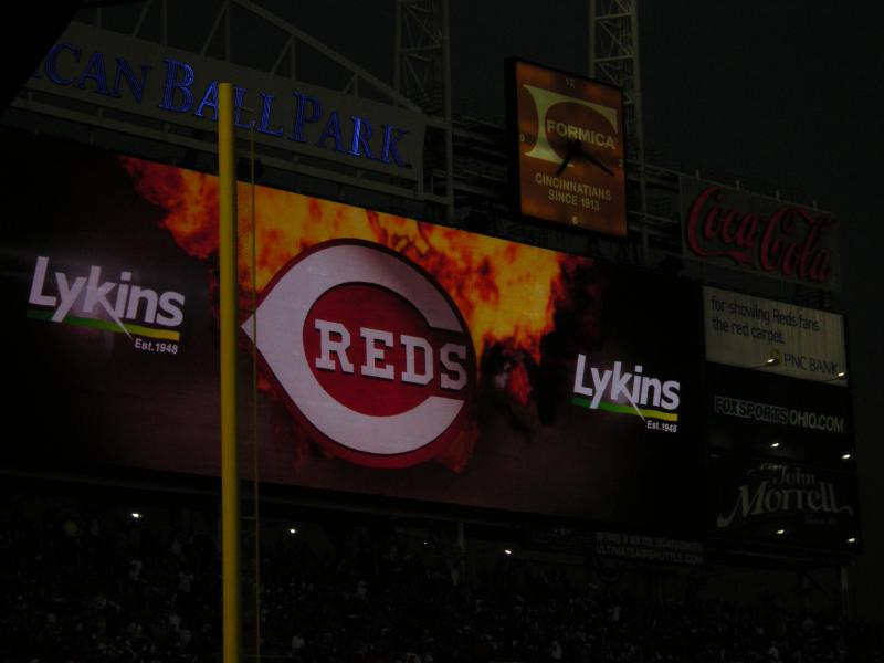 Throughout most of the game Reds pitching shut the Giants down with strikeouts