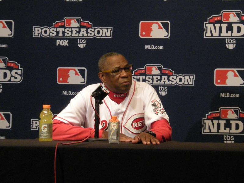 Manager Dusty Baker was asked who will pitch for the Reds Wednesday. He said he would decide later.