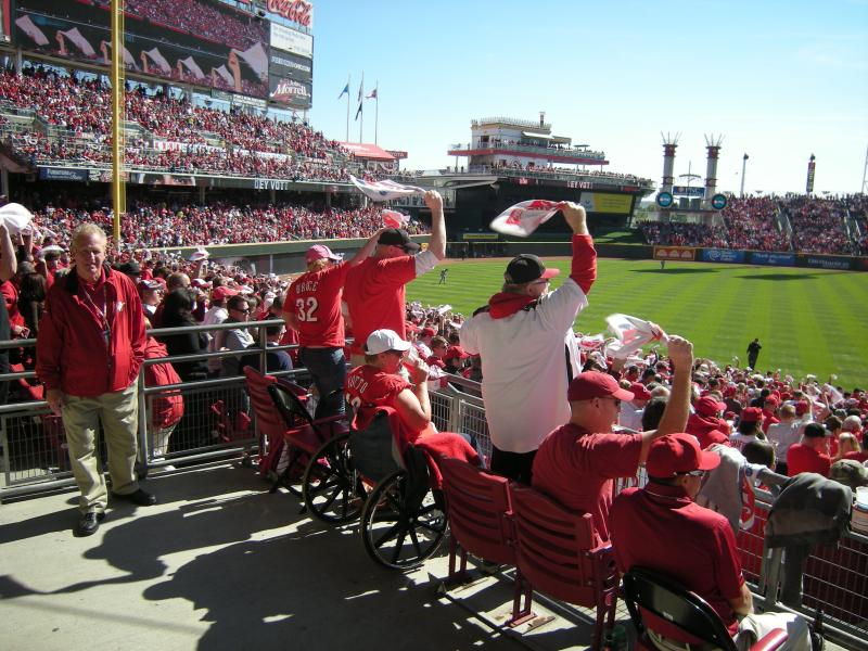 Reds fans hold out hope in the ninth inning
