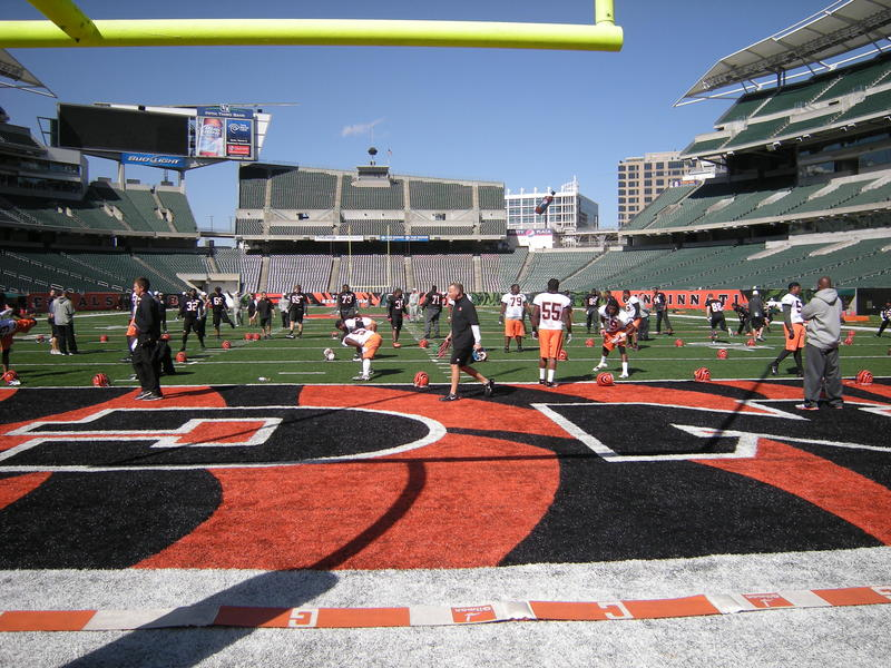 Bengals warm up on the field but prepare mentally with iPads at home
