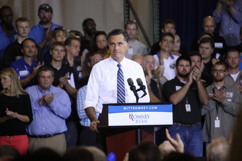 Mitt Romney speaks at Jet Machine in Bond Hill