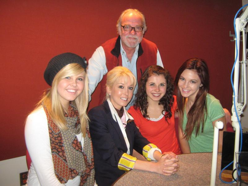 Jetset Getset with their manager and WVXU's Brian O'Donnell