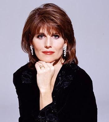 Actress Lucie Arnaz, representing the American Theatre Wing