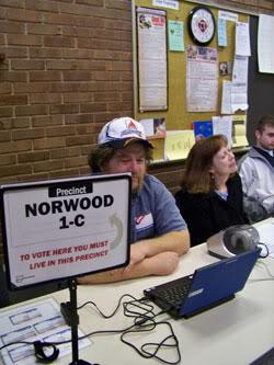 File photo of a Norwood polling location