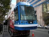 Streetcar on display at Fountain Square several years ago