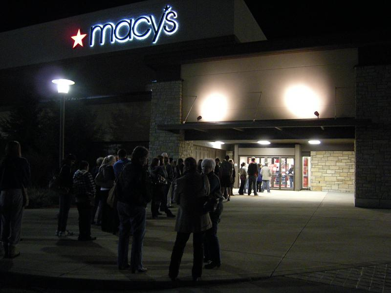 Macy's had a midnight opening with a line back into the parking lot