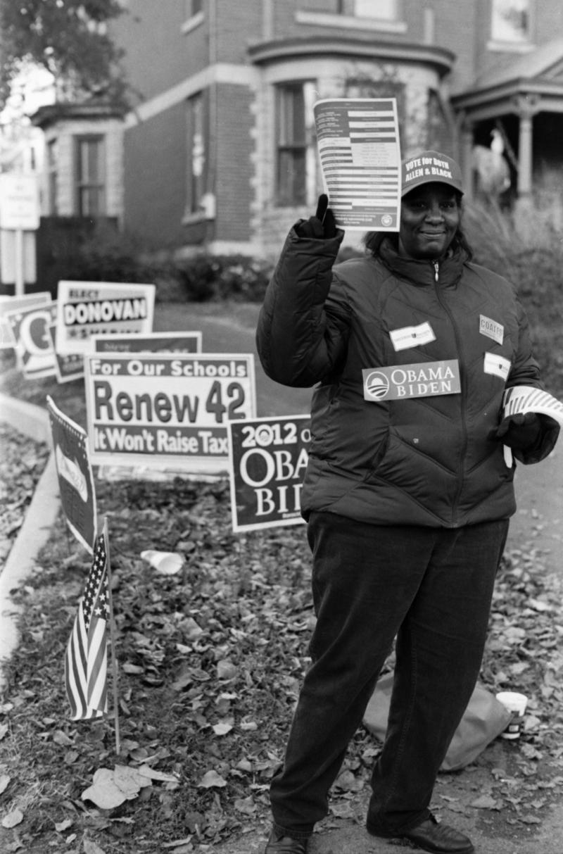 Rosalind Campbell, poll worker, Northside Library