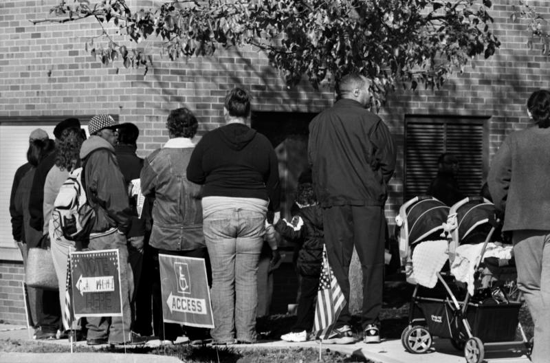 Voting Line at Pleasant Ridge Center, 10 a.m., Nov. 6.