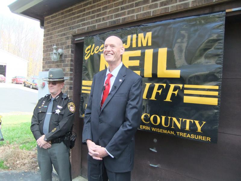 Sheriff-elect Jim Neil (right) with Lt. Mark Schoonover. Schoonover will serve as Chief Deputy