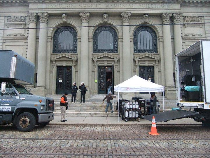 "Memorial Hall served as a filming location for George Clooney's ""Ides of March."""