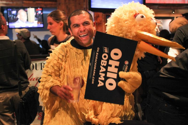 Homero Castro, an Ohio resident, chose an alternative outfit to support President Obama.