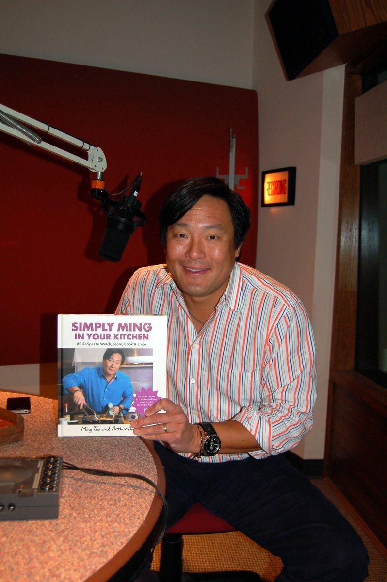 Chef Ming Tsai in the WVXU stuido