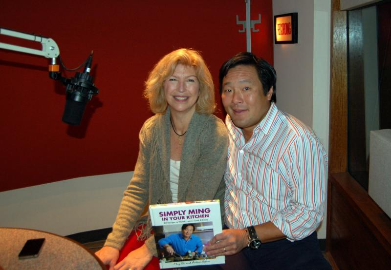Chef Ming Tsai with Robyn Carey-Allgeyer