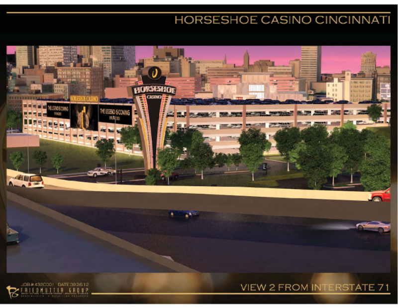 Artist's rendering of Horseshoe Casino Cincinnati.
