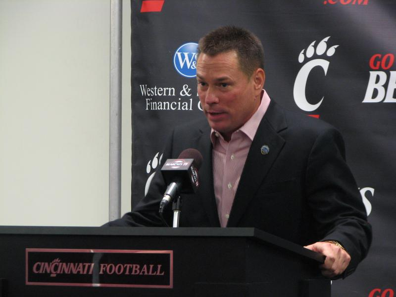 Jones spoke with Cincinnati media Tuesday about UC playing in the Belk Bowl.