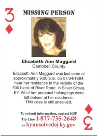 KSP is handing out playing cards featuring cold cases in hopes of generating new leads.