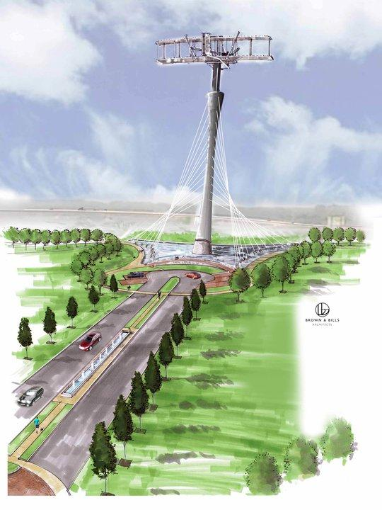Artist rendering of proposed monument.